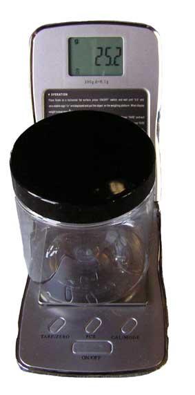 Pigmentvåg 0,1 - 300g (8x12cm)